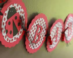 Ladybug Baby Shower Centerpieces by Nursery Rhyme Banner Ladybug Ladybug Baby Shower