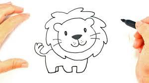 draw lion face lion head easy draw tutorial