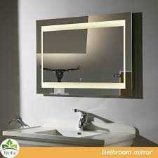 Bathroom Mirror With Light Led Bathroom Mirror With Digital Clock Led Bathroom Mirror With