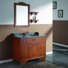 Shaker Style Bathroom Cabinet by Aesthetic Distressed Cherry French Country Bathroom Vanity For