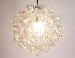 chandelier nyc souda s chandelier is made of plastic bottles collected by
