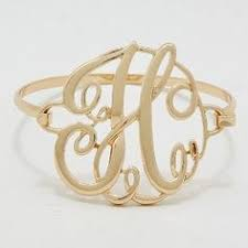 monogram initial bracelet monogram initial bracelet gold 1 75 letter e hinge bangle