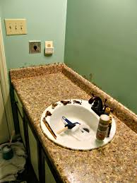 painting the counter faux granite mrs bomb sink redo