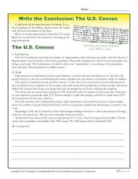 write the conclusion writing activity the u s census writing