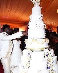 small gist beautiful wedding cakes of some nigerian celebrities