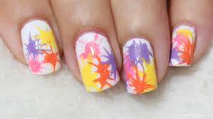 real asian beauty paint splatter nail art