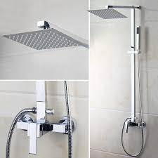 ouboni bathroom shower system faucet set with rainfall shower head
