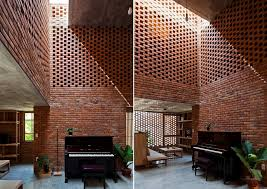 brick home designs a creative brick house controls the interior climate and looks amazing