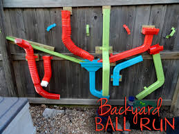 backyard ball run using rain gutter pieces should be ok during