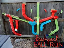 Backyard Fun Ideas For Kids Backyard Ball Run Using Rain Gutter Pieces Should Be Ok During