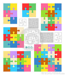 jigsaw puzzle blank templates colorful patterns by ratselmeister