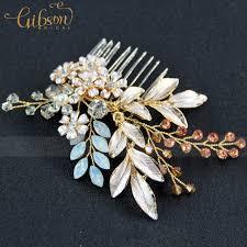 hair brooch design free shipping 2017 new design vintage enamel floral bridal wedding
