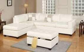 Sectional Sofa With Bed by 3 Piece Modern Reversible Tufted Bonded Leather Sectional Sofa