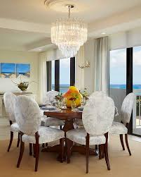 open dining room with ocean view house interior and furniture