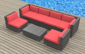oahu 7pc ultra modern wicker patio set www urbanfurnishing net