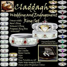 claddagh set second marketplace cuda claddagh wedding and engagement