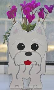 west highland terrier westie puppy planter dogs pet pets