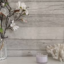 timber u0027 textured reclaimed washed wood plank effect wallpaper grey