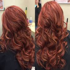 red base with richer red and blonde highlights hair pinterest
