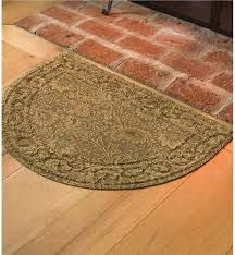 Half Circle Kitchen Rugs Half Circle Rugs Low Profile Microfiber Rug