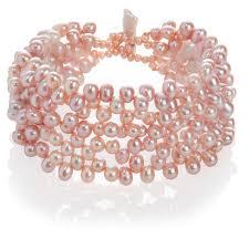 pink pearls bracelet images 5 strand cultured freshwater pink pearl bracelet coleman douglas jpg