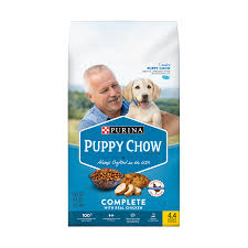 purina light and healthy purina puppy chow complete with real chicken dry puppy food 4 4 lb