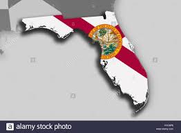 Florida Flag Facts Illustration Of The State Of Florida Silhouette Map And Flag Its