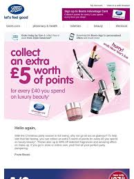 boots buy collect in store boots collect an 5 worth of points for every 40 you spend