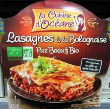 produit cuisine lasagnes à la bolognaise pur bœuf bio la cuisine d océane