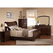 King Bedroom Sets With Media Chest Georgetown Dark Bedroom Bed Dresser U0026 Mirror King 48069