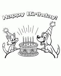 amazing happy birthday printable coloring pages to motivate to