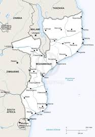mozambique map blank political mozambique map with cities