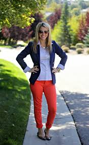 What To Wear With Light Jeans How To Wear Orange Trousers 2018 Fashiongum Com