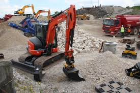 kubota kx057 4 conventional tall swing compact excavators in the