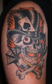 collection of 25 cross bones skull spiderweb and tattoos
