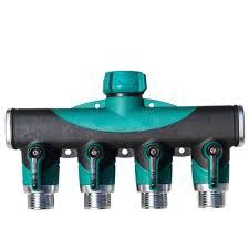 3 4 inch garden hose 4 way splitter water pipe faucet shut off