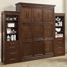 queen murphy bed cabinet laura queen murphy bed with 2 storage cabinets in walnut by