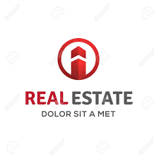 letter i real estate sign logo icon design template with house