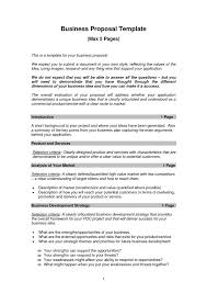 templates for writing business plan gallery of business proposal template format of writing a business