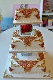 Indian Wedding Cake White U0026 Red Elegance Indian Weddings Cake