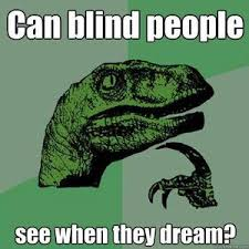 Can A Blind Person Dream Can Blind People See When They Dream By Nachokiller Meme Center
