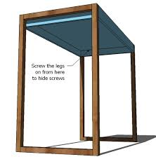 Bar Height Table Legs Ana White Build A Simple Modern Bar Table Free And Easy Diy Bar