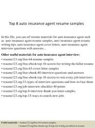 Insurance Sales Resume Sample Auto Insurance Agent Cover Letter
