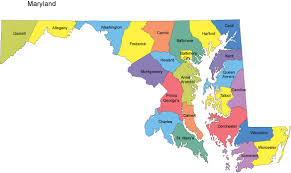 maryland map maryland powerpoint map counties