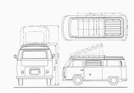 volkswagen drawing volkswagen transporter t2 blueprint download free blueprint for