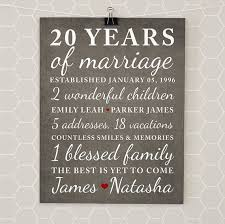 20th wedding anniversary gift ideas anniversary gifts for 20th anniversary 20 year anniversary gift