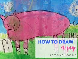 how to draw a pig deep space sparkle