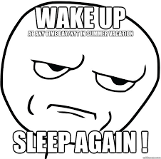 Are Fucking Kidding Me Meme - wake up sleep again at any time day nyt in summer vacation are