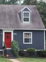 Grey House Paint by Grey House With Black Shutters And Red Door Jpg Homeyishness