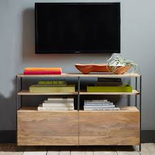 West Elm Console Table by Industrial Modular Media Console 124 Cm West Elm Au
